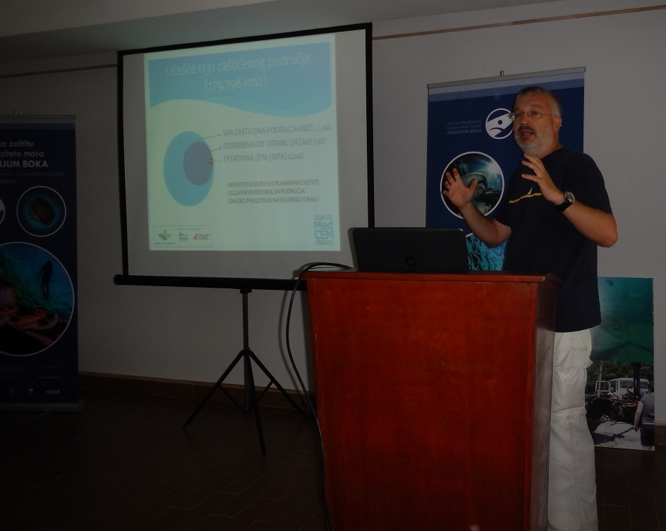 """Presentation by Dusan Varda at the 1st workshop """"Sustainable fisheries - fight against illegal fishing"""" (Photo by Djordje Kovjanić)"""